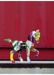 JEU DE CONSTRUCTION EN CARTON RECYCLE ANIMAL CHEVAL