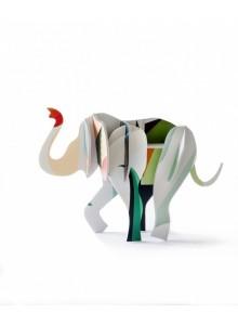 JEU DE CONSTRUCTION EN CARTON RECYCLE ANIMAL ELEPHANT