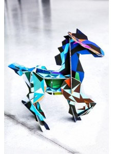 JEU DE CONSTRUCTION EN CARTON RECYCLE CHEVAL FRISON